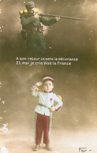 Carte postale française Souhaits