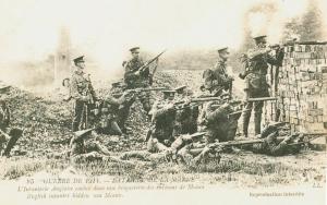 Carte postale  française 1914 bataille de la Marne