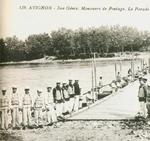 Carte postale  française 1916 manoeuvre de pontage