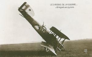 Carte postale  française  Avion Brequet en pilone