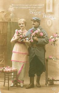 Carte postale  française Meilleurs voeux fêtes