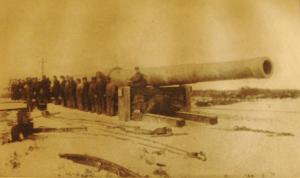 """Première Guerre Mondiale -canon de 18 pouces de la défense cotière à Sandy Hook,USA.Les américains """"copièrent"""" la Grosse Bertha allemande dans le but de défendre leurs côtes contre des attaques maritimes."""