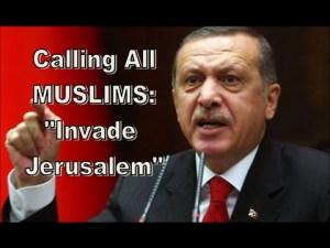 Erdogan qui a lancé  un appel semblable   à celui d'Al Baghdaddy récemment.