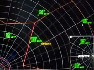 La circulation des ovnis sur l'écran radar surveillant la ville de washington en ce 28 juillet 1952.