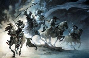 On voit déjà se profiler ,à l'horizon,l'ombre   des 4 Cavaliers de l'Apocalypse.