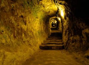Photo du tunnel découvert près de Derinkuyu en Turquie.
