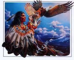 Représentation de l'oiseau tonnerre et de la légende de Katulak qui inspira le courage chez la nation Sioux.