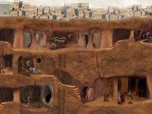 Aperçu des structures souterraines de Derinkuyu.