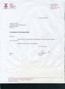 La lettre envoyée par l'avocat de Dominique qui permet d'établir la preuve des malversations.