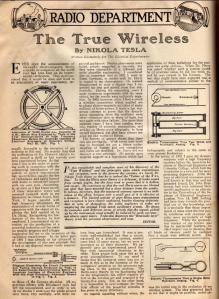 Page d'un journal de 1919.