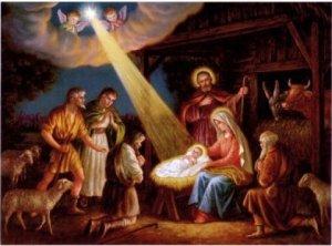 La naissance,le soir de Noêl.