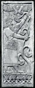 Plus de 800 ans avant JC,les néo-assyriens  exhibaient leurs barbes au combat contre les démons.