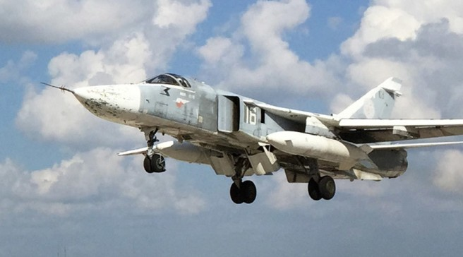 Russian military aircraft at Syria's Hmeimim airfield