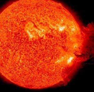 Une impressionnante éruption solaire survenue récemment.