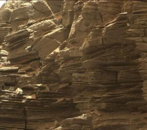 Une formation rocheuse sédimentée faisant penser au Far West américain