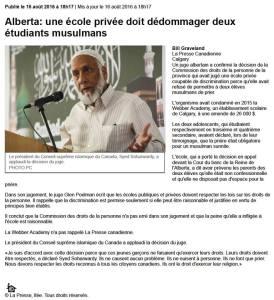 """Après ces mêmes personnes se demandent pourquoi elles ont de la difficulté lorsqu'elles cherchent de l'emploi... Disons que ce ne sont pas toutes les """"shops"""" qui peuvent se permettre d'avoir des ti-culs qui sortent leurs tapis 5 fois dans la journée pour prier... et se faire dire """"c'est notre droit, c'est notre religion""""... Sans omettre le Ramadan, et autres impositions religieuses..."""