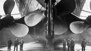 Photo des hélices du RMS Titanic ,juste avant son lancement.
