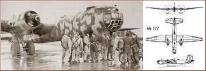Le Heinkel 177 portait de petits missiles guidés développés pour frapper des navires de surface.