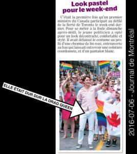 Il participe à la parade Gay mais il va prier dans les mosquées ,avec les musulmans qui eux disent qu'on devrait éliminer les homosexuels(et tout ce n'est pas normal). Voici la stupidité mise en grand jour si j'étais homosexuel, je l'aurais sorti de la parade à grand coup pied au cul.