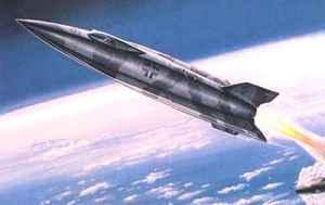 C'est probablement une V2 modifiée qui transporta les premiers cosmonautes  du Reich dans l'espace. La fusée de Raul Streicher devait ressembler à cela.