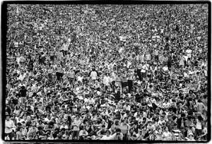 La densité de la foule au moment le plus hot!