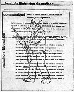 Front de liberation du Quebec - manifeste - crise d'octobre 1970