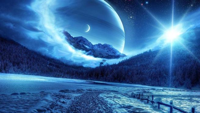 nuit bleutée