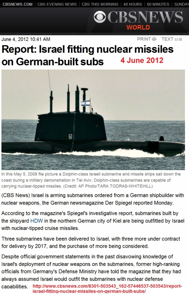 http://www.cbsnews.com/8301-503543_162-57446537-503543/report-israel-fitting-nuclear-missiles-on-german-built-subs/